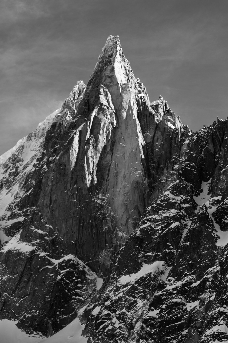 The Dru by ollybowman - Black And White Mountain Peaks Photo Contest