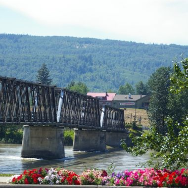 OLD BRIDGE in Quesnel, British Columbia, CANADA - July 7, 2007