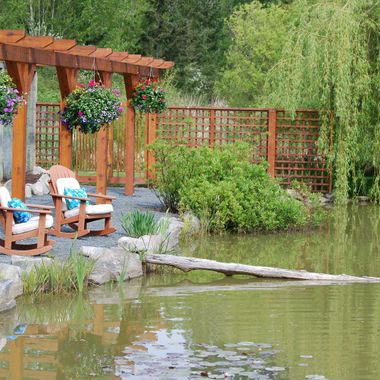 AT POND'S EDGE during annual Oceanside Mother's Day Garden Tour on Vancouver Island - May 2015