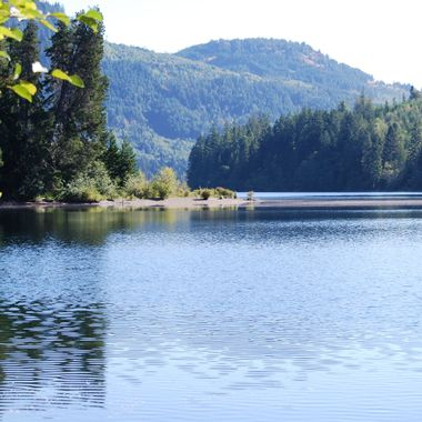 Horne Lake from camp site, Vancouver Island - July 2015
