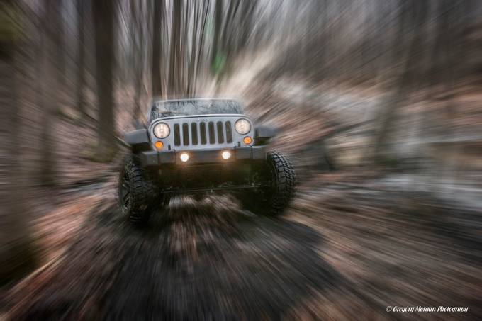 Digging up the hill zoom by gregmorgan - Blurred Subjects Photo Contest