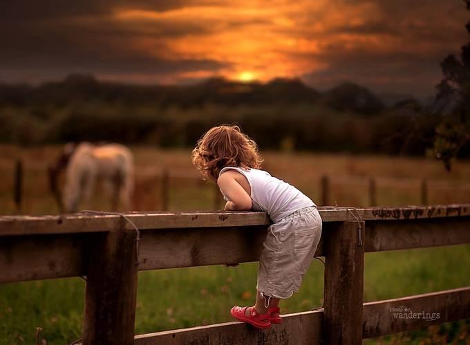 Meadow Memories by KarenHook - Children In Nature Photo Contest