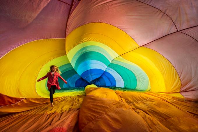 View Inside a Balloon by intheloupe - Show Balloons Photo Contest
