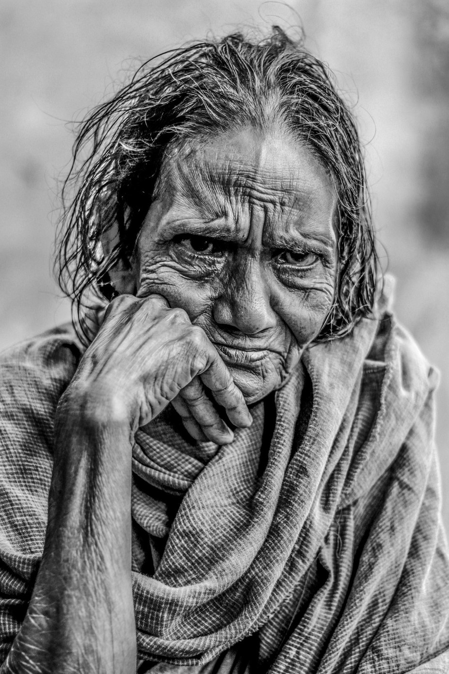 Portrait of old women by anandarony - Once Upon A Time Photo Contest