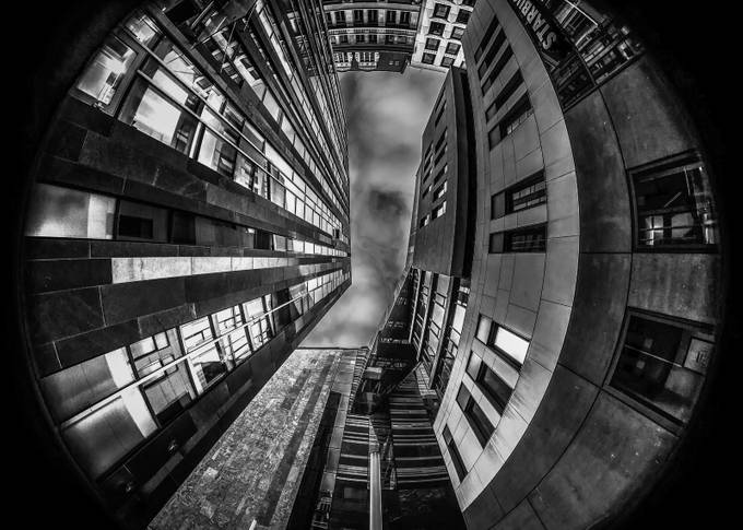 Upside down by ruthchudaska-clemenz - Black And White Architecture Photo Contest
