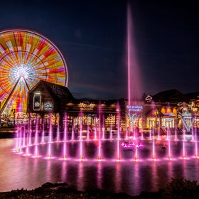 2016, Pigeon Forge, Tennessee. The Island is a fairly new development in the heart of Pigeon Forge. It features shops, restaurants, a water show ...