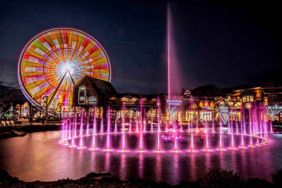 2016, Pigeon Forge, Tennessee. The Island is a fairly new development in the heart of Pigeon Forg...