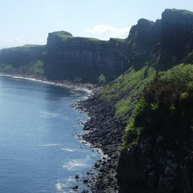 Isle of Skye coastline on a lovely calm,tranquil sun kissed day in Summer.