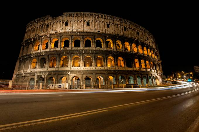 Colosseum Night 2 by BensViewfinder - Experimental Light Photo Contest