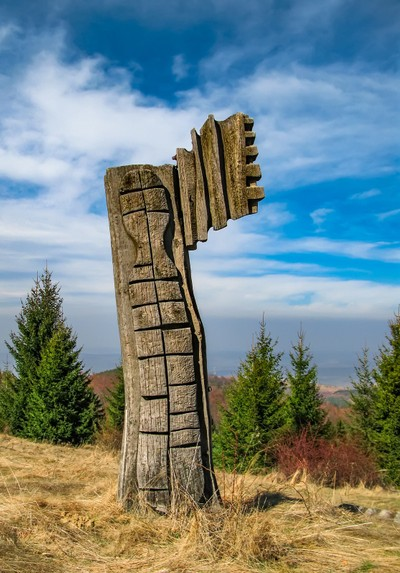 Wood old Sculpture Art Outdoor