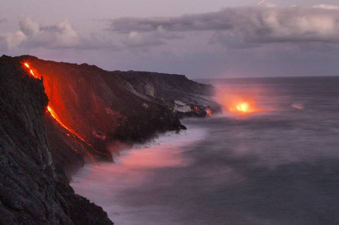 Kilauea Volcano lava flow by danjusta - Capture The Four Elements Photo Contest