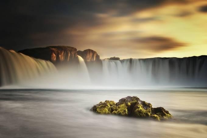 Goðafoss Sunset by carstenmeyerdierks - Freshmen 2016 Photo Contest Vol 2