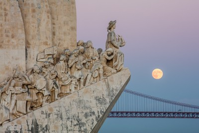 Super Moon over Lisbon II - Portugal, Lisbon