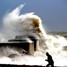 "Another shot of Storm ""Imogen""  along the English Channel here pounding Hastings Beach ""Best not to stand too close to the surf&qu..."