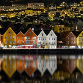 "View of the UNESCO World Heritage site ""Bryggen"" in Bergen, Norway."