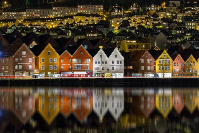 Bergen City Reflections by dslrno - World Expeditions Photo Contest