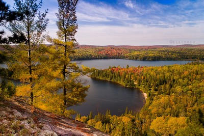 whitefish lake in autumn