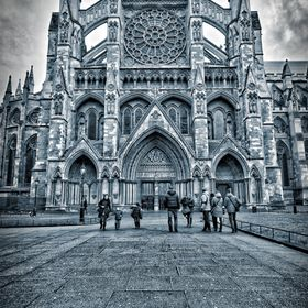 Monotone HDR image of Westminster Abbey shot at 17mm on a d610 with a Sigma 12-24mm wide angle.