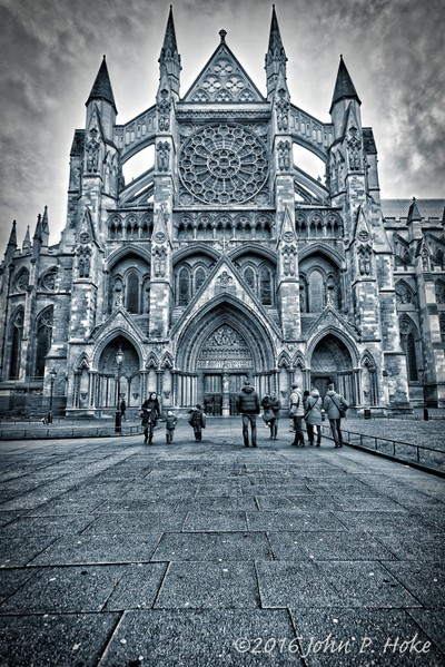 Westminster Abbey Black and White HDR