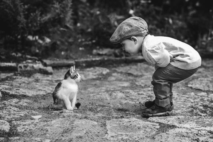 Conversation by di4ka - Children and Animals Photo Contest