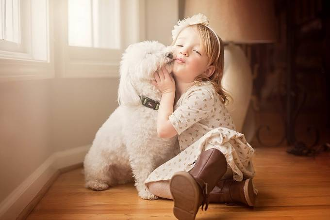 "Eleanor and ""Brother"" Louie by maloy202 - Children and Animals Photo Contest"