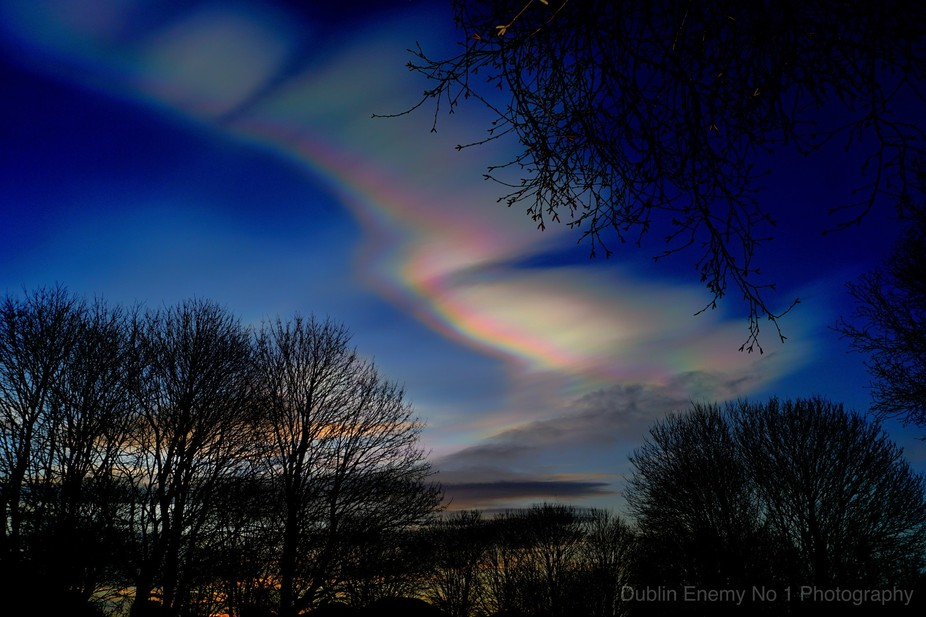 Nacreous clouds, sometimes called mother-of-pearl clouds, are rare but once seen are never forgot...