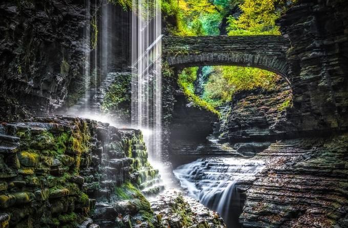 Bridge to Paradise by bpidala - Beautiful Waterfalls Photo Contest
