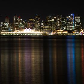 Vancouver Canada  Skyline at night