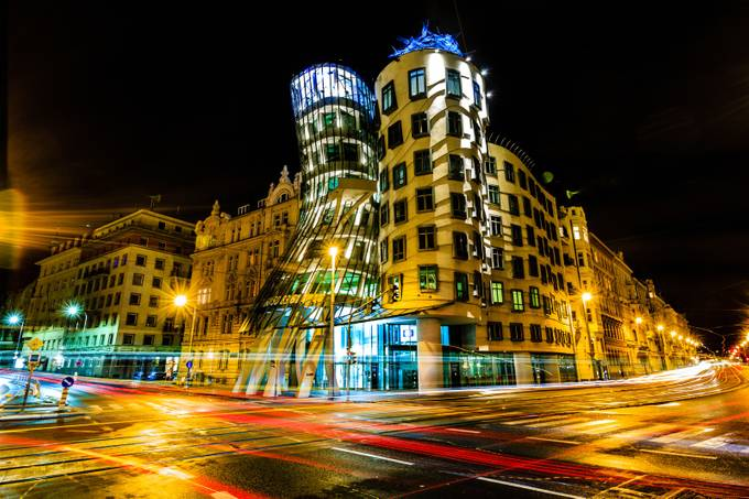 Dancing Lights at Dancing House by ericcriswell