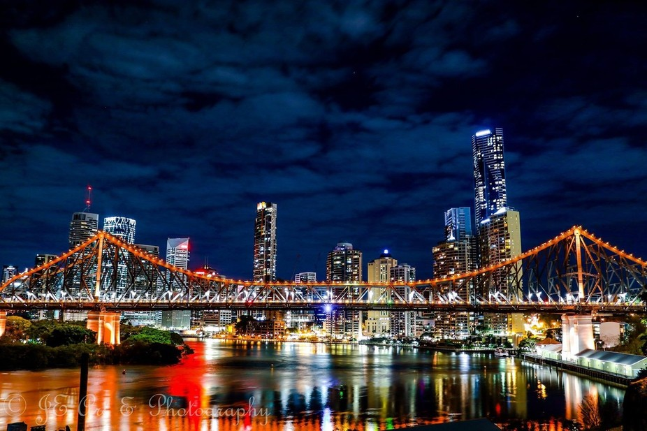 The Story Bridge, Brisbane Australia. Lighting up the way for those seeking to find the light.......