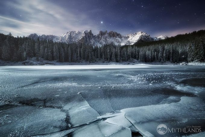 Frozen Carezza Lake by LucaPelizzaro - Our Natural Planet Photo Contest