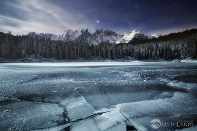 Frozen Carezza Lake