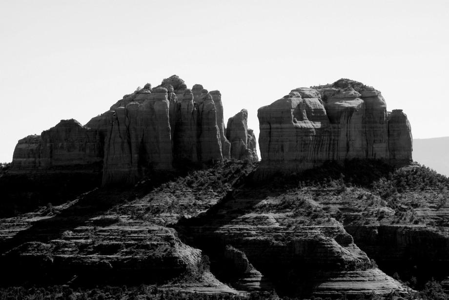 Sedona is beautiful in color and black and white.