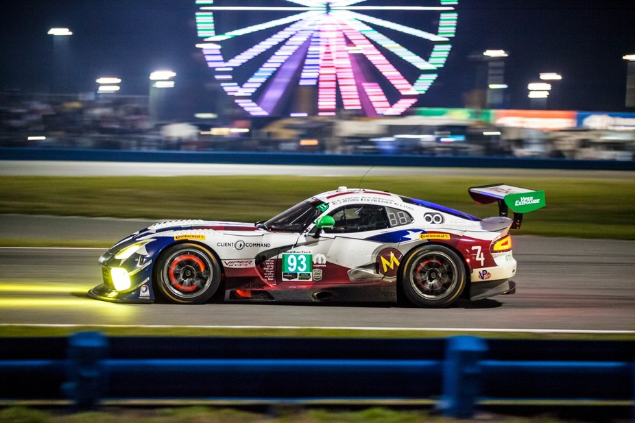 Dodge Viper GTS-R at the Rolex 24 hours of Daytona. I love shooting this race due to the night ti...