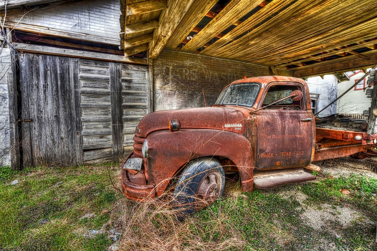 A vintage Chevrolet Truck in Italy, Texas.