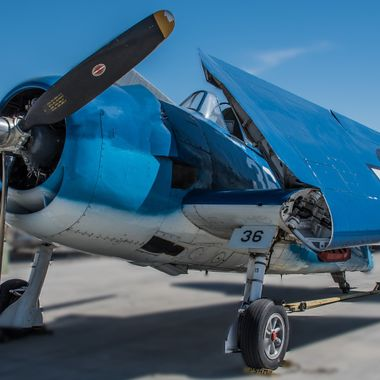 A Grumman F6F Hellcat at the Palm Springs Air Museum
