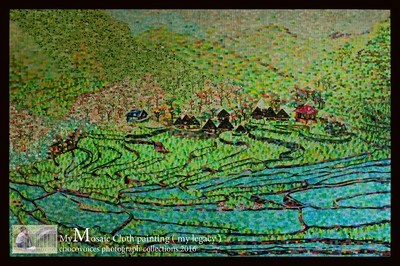 Chocovoices Mosaic Cloth Painting ( Batad Rice Terraces Philippines )