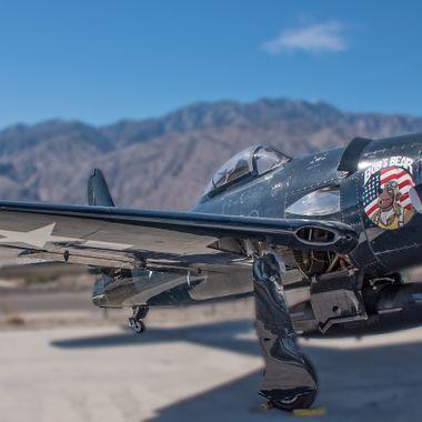 A Grumman F8F Bearcat at the Palm Springs Air Museum