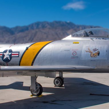 F-86 Sabre Jet at the Palm Springs Air Museum