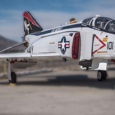 An F-4  Phantom at the Palm Springs Air Museum