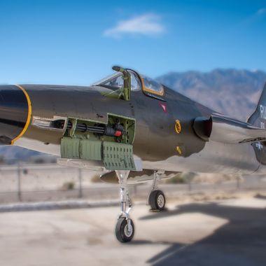 A Republic F-105 Thunderchief (aka Thud) at the Palm Springs Air Museum