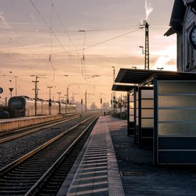 This is the train station in Parsberg, Germany. My wife and I were waiting to catch a train to head to Munich and the lighting and quietness of t...