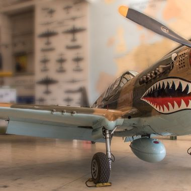A Curtiss P-40 Warhawk at the Palm Springs Air Museum