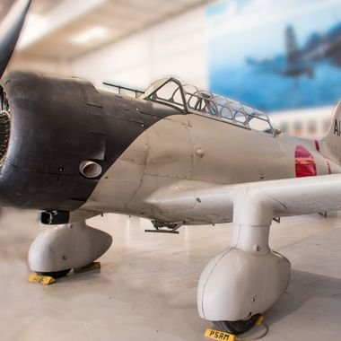 A Japanese Aichi D3A (Val) dive bomber at the Palm Springs Air Museum