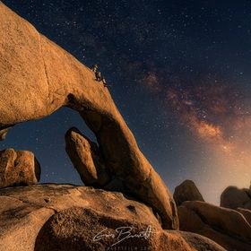 Milky way over the Rock Arch of Joshua Tree NP, CA