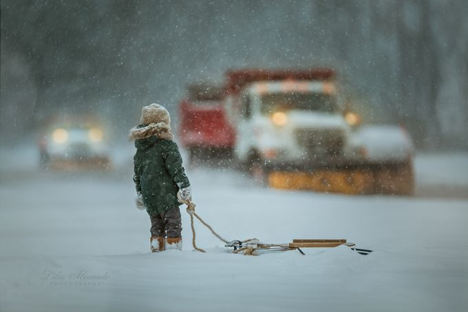 Through The Snow... by liliaalvarado - Towns In The Winter Photo Contest
