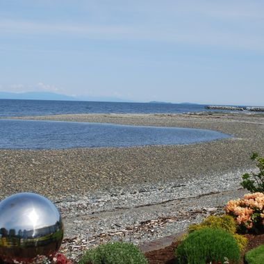 Columbia Beach in French Creek on Vancouver Island during Mother`s Day Garden Tour -  11 May 2014