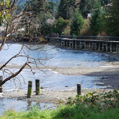 BOARDWALK BRIDGE on the BAY - Mill Bay area - Vancouver Island March 2013