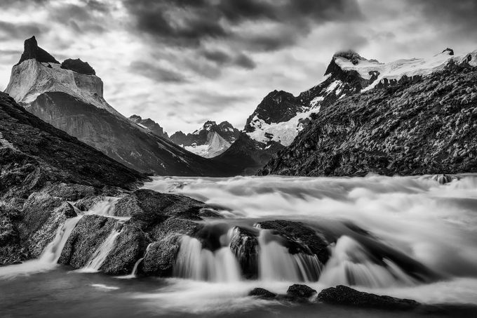 waterfall by Andre11 - Black And White Landscapes Photo Contest
