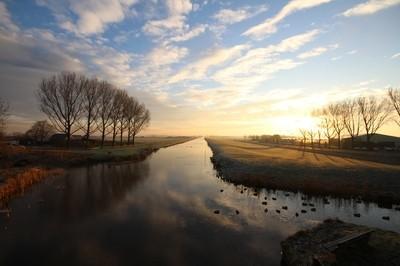 Sunrise over the Kerkvaart.